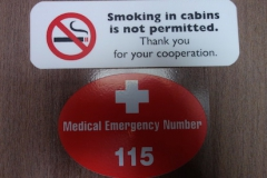 MSC Musica Balkonkabine 11199 medical emergency number